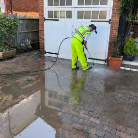 Drive way power washing -Brighton
